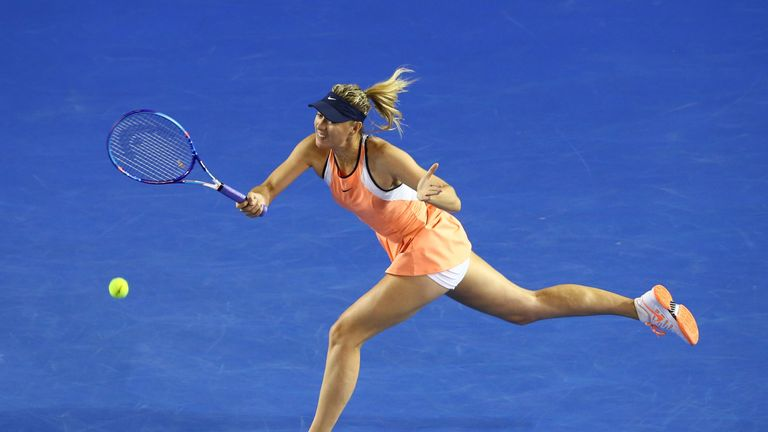 Sharapova reached the quarter-finals of this year's Australian Open