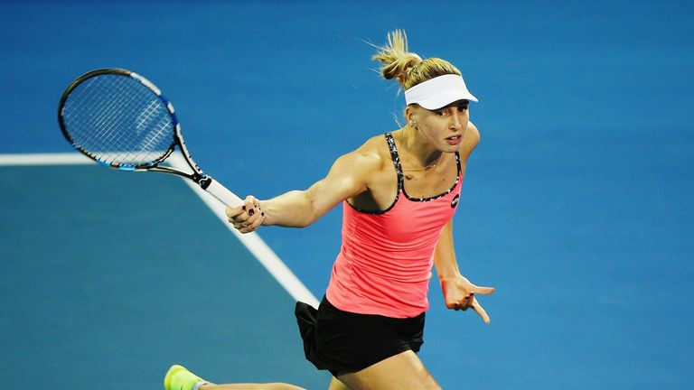 Naomi Broady in action against Ana Ivanovic