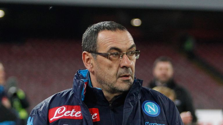 Maurizio Sarri has guided Napoli to the top of Serie A
