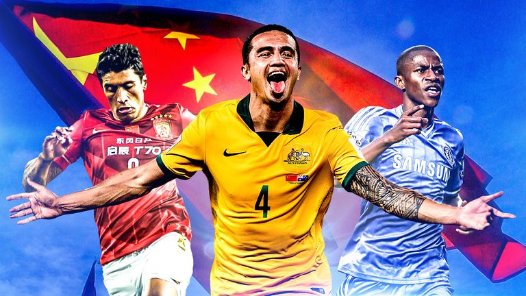 Paulinho, Tim Cahill and Ramires are part of the growing number of players who have moved to China