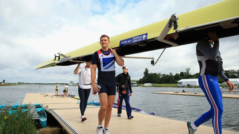 Pete Reed won three Olympic rowing gold medals before retiring last year
