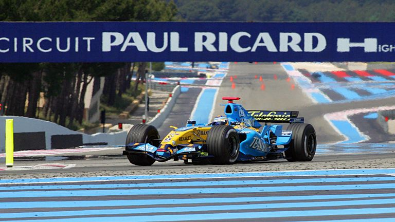 Fernando Alonso in action at Paul Ricard for Renault in 2006