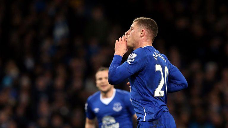 Everton's Ross Barkley celebrates his stunning opener