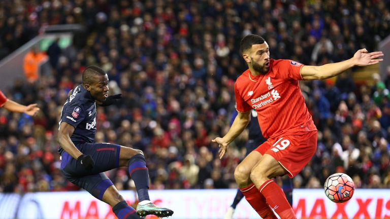 Enner Valencia had an early sight of goal at Anfield