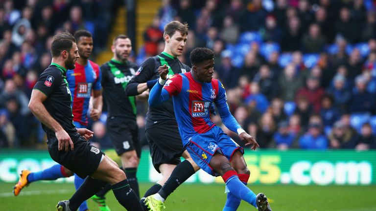 Zaha finds the net against Stoke in the FA Cup