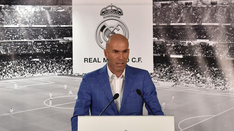 Zinedine Zidane has succeeded Rafa Benitez in the Real Madrid job