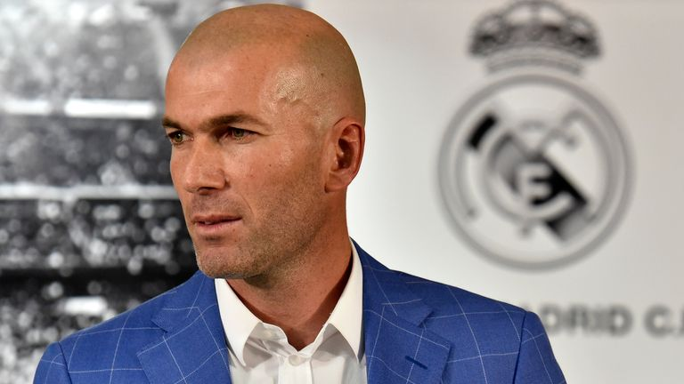 Real Madrid's new French coach Zinedine Zidane