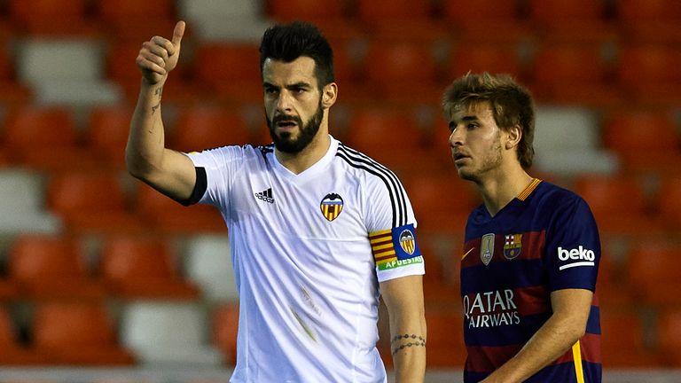 Alvaro Negredo (front) opened the scoring against Barcelona