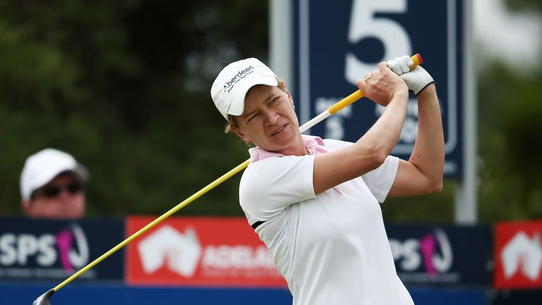 Catriona Matthew during day two of the ISPS Handa Women's Australian Open at The Grange GC