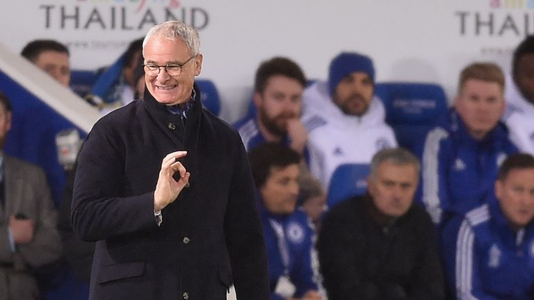 Claudio Ranieri watches games from the dugout but the analysis team remains a vital part of Leicester's success