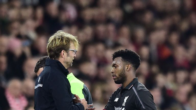 Daniel Sturridge returned to training this week but will not feature this weekend