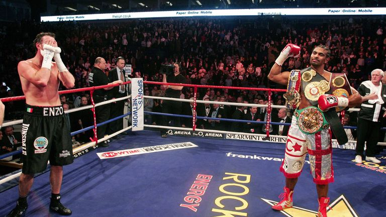 Maccarinelli's bid to unify the cruiserweight division was ended by David Haye in 2008