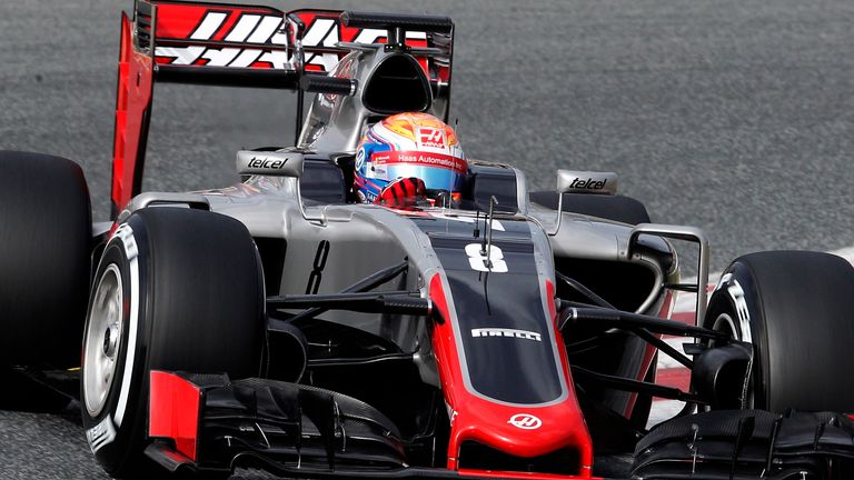 Romain Grosjean missed much of the afternoon after a front-wing failure