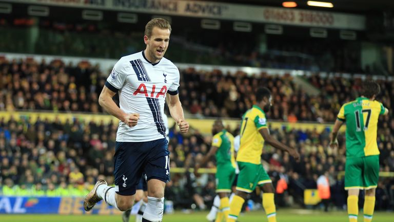 Harry Kane's second goal against Norwich was his 14th goal in his last 15 Premier League appearances