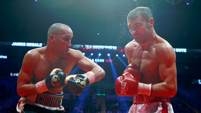 James DeGale defeated Lucian Bute