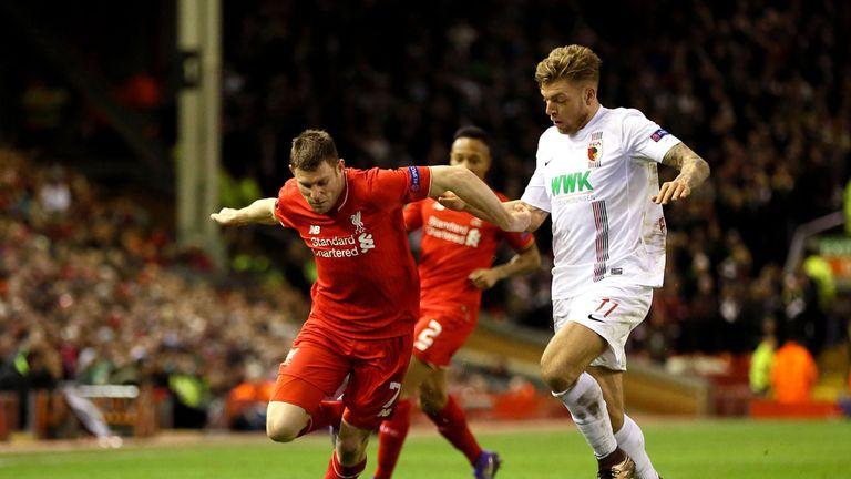 Milner gets away from Augsburg Alexander Esswein