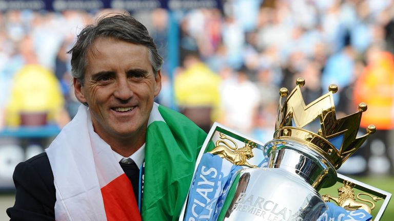 Mancini won the Premier League title in 2012 with Manchester City