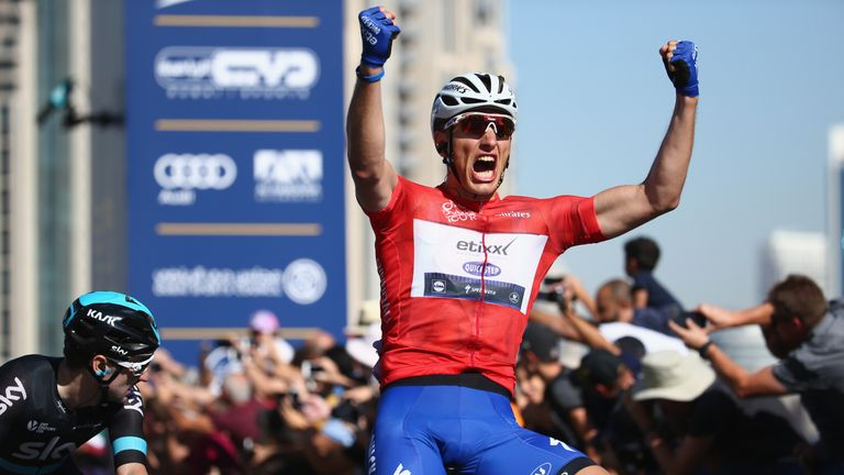 Marcel Kittel won the final stage of the Dubai Tour to claim the overall title