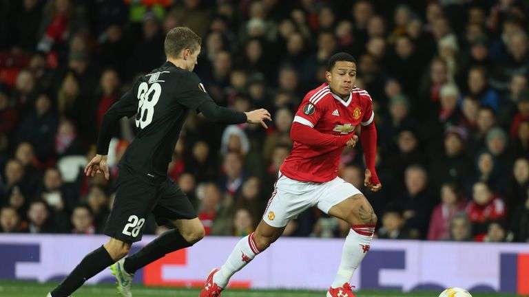 Memphis Depay tormented Andre Romer for large parts of Thursday's game