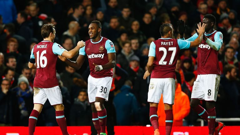 Michail Antonio opened the scoring on the stroke of half-time