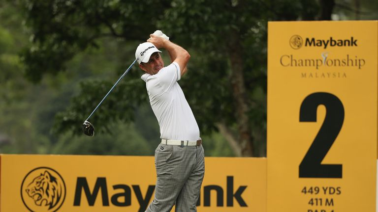 Richard Bland emerged as Holman's closest challenger on Friday in Malaysia