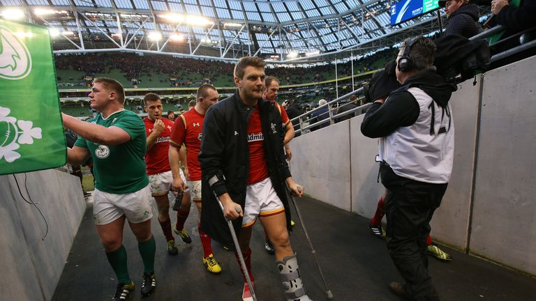 Biggar has been dubbed 'Lazarus' after leaving the field on crutches last week