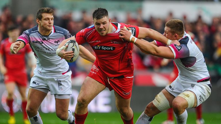 Scarlets and Wales prop Rob Evans produced a man-of-the-match display in the derby match against the Ospreys