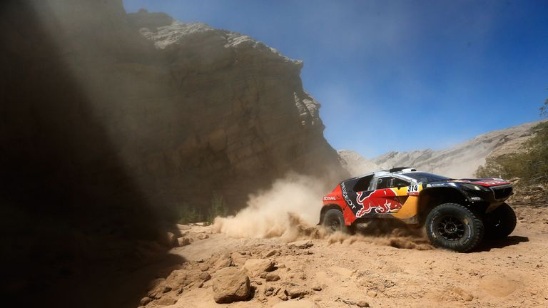 Sebastien Loeb in action during this year's Dakar Rally in south America