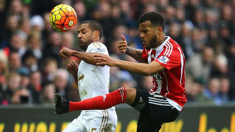 Ryan Bertrand and the Southampton defence were rarely troubled at Swansea