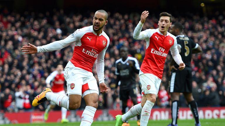 Theo Walcott's (left) neat finish sparked Arsenal's revival
