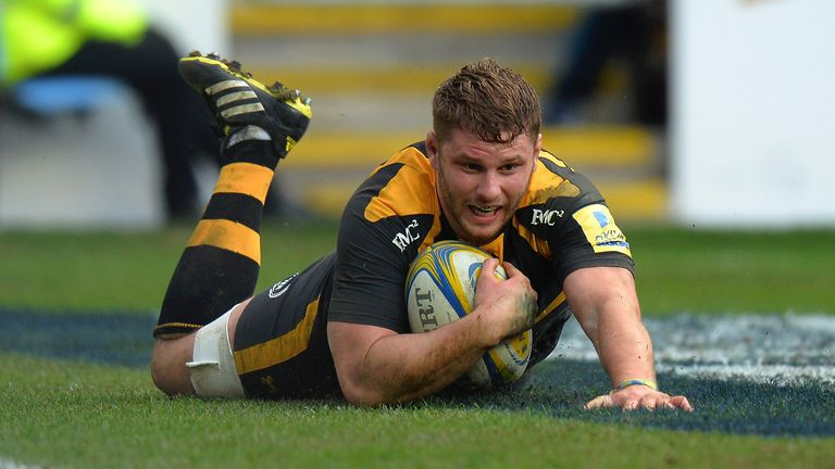 Thomas Young scored twice against Newcastle as Wasps racked up the bonus-point
