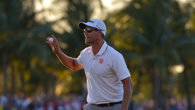 Adam Scott staged a remarkable recovery after making two double-bogeys in three holes