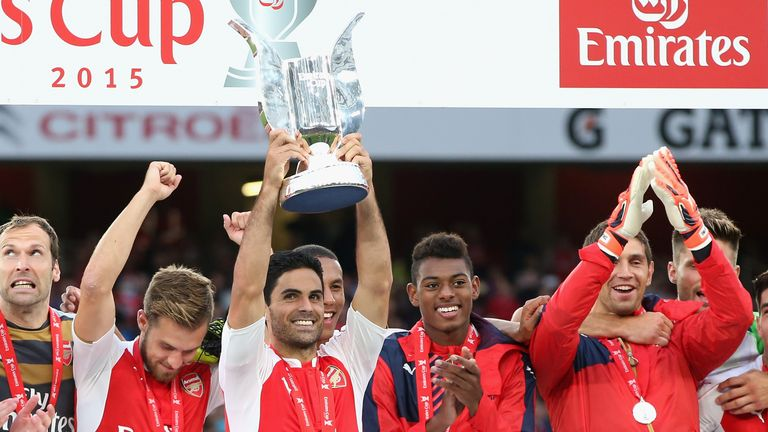 Arsenal lifted the Emirates Cup last year