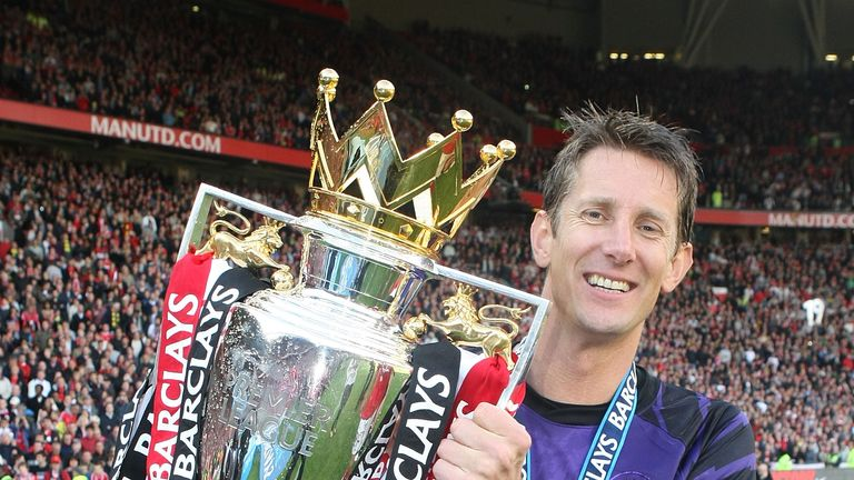 Edwin van der Sar won four Premier League titles with Manchester United