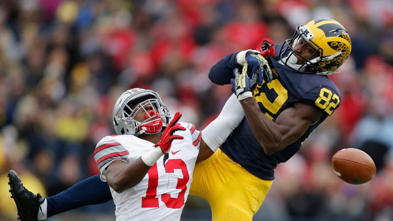 Apple #13 in action for the Ohio State Buckeyes