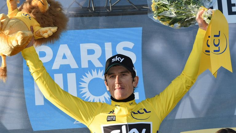 Thomas leads Paris-Nice by 15 seconds with one stage remaining