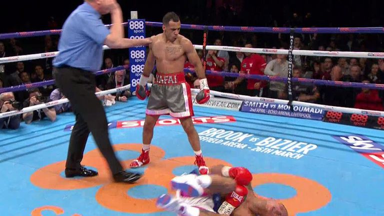 It was the second and final time Yafai put Flores on floor in fine style