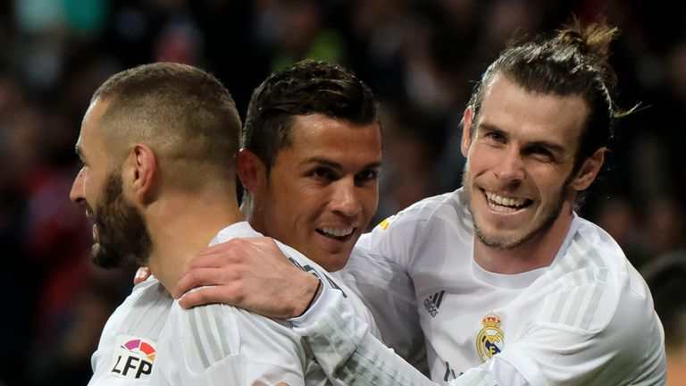 Karim Benzema, Cristiano Ronaldo and Gareth Bale are yet to start a game together this season