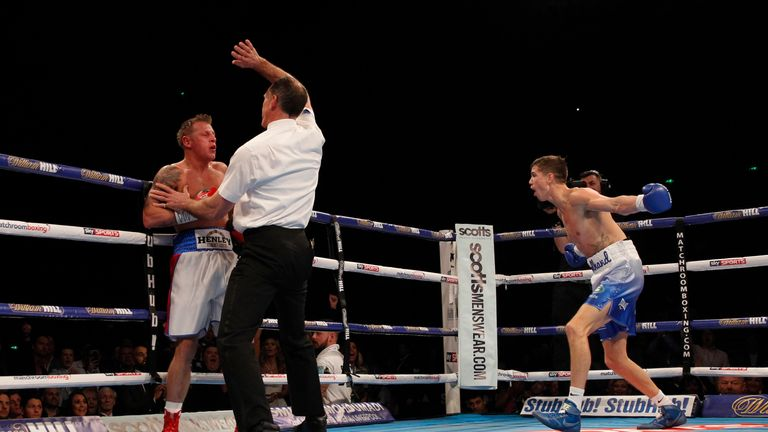 Luke Campbell took less than two rounds to get back to winning ways