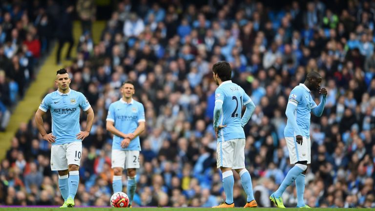 Manchester City suffered derby defeat in their last match