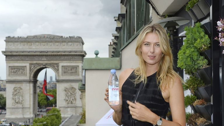 Evian 'awaiting developments' after Sharapova fails drugs test
