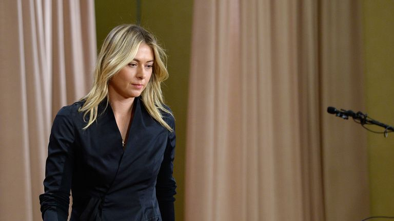 Sharapova made the shock admission at a news conference in Los Angeles