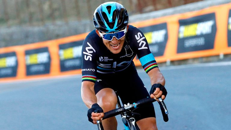 Michal Kwiatkowski's late attack forced the pre-race favourites to chase