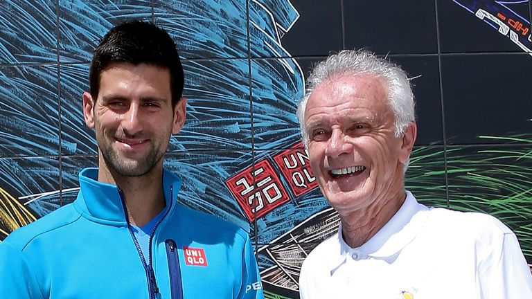 Djokovic made his comments after Raymond Moore (right) said women should be grateful Roger Federer and Rafa Nadal had 'carried tennis'