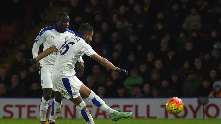 Riyad Mahrez hit the decisive winner in a 1-0 victory over Watford