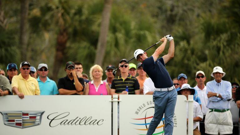 McIlroy birdied five of his first 10 holes, but finished with a three-putt followed by a double-bogey