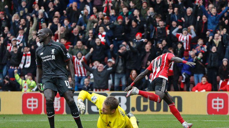 Sadio Mane celebrates Southampton's winner