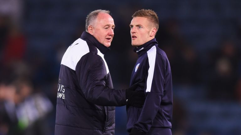 Steve Walsh (left) was responsible for signing Jamie Vardy from Fleetwood Town