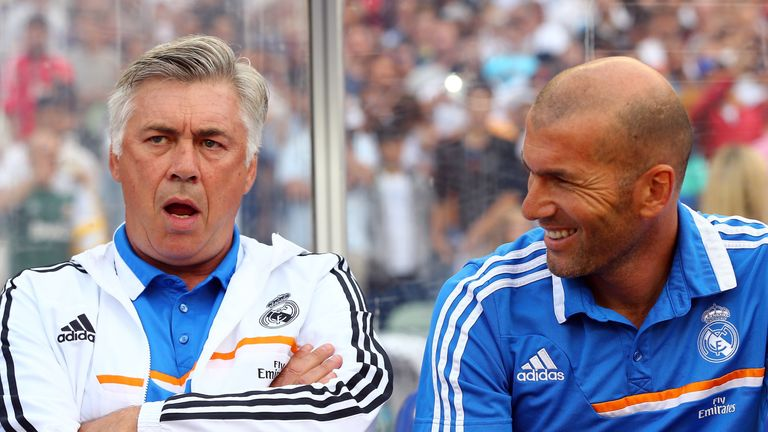 Zidane worked as Carlo Ancelotti's assistant during his time in charge