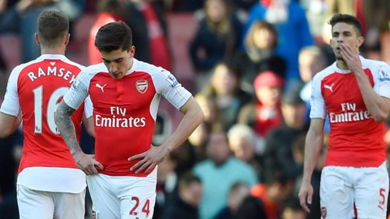 Arsenal were top of the league over the Christmas period, but fell in spring